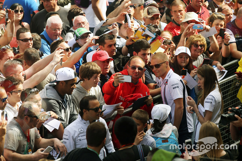 Valtteri Bottas, Williams con i tifosi