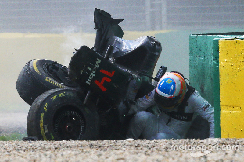 Alonso miraculously emerges unscathed