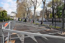 ePrix di Parigi, il circuito cittadino in allestimento