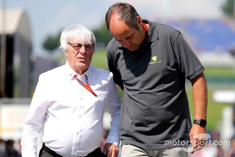 Bernie Ecclestone und Gerhard Berger