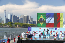 Jean-Eric Vergne, Techeetah, wins, followed byLucas di Grassi, Audi Sport ABT Schaeffler, Daniel Abt, Audi Sport ABT Schaeffler