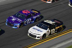 Darrell Wallace Jr., Richard Petty Motorsports, Click n' Close Chevrolet Camaro, Brendan Gaughan, Beard Motorsports Chevrolet Camaro