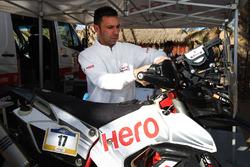 Hero MotoSports team member at work