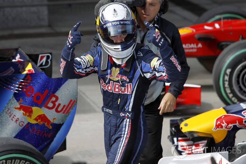 Sebastian Vettel, Red Bull Racing fête sa pole position
