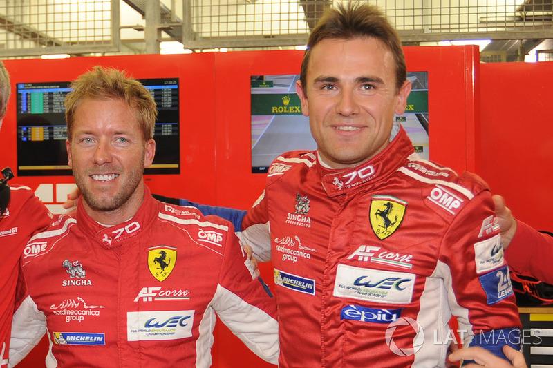 LMGTE PRO pole sitters Davide Rigon, Sam Bird, AF Corse