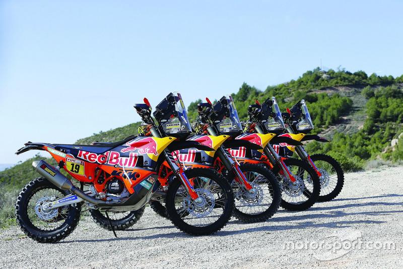 Todas las motos del Red Bull KTM Factory Team