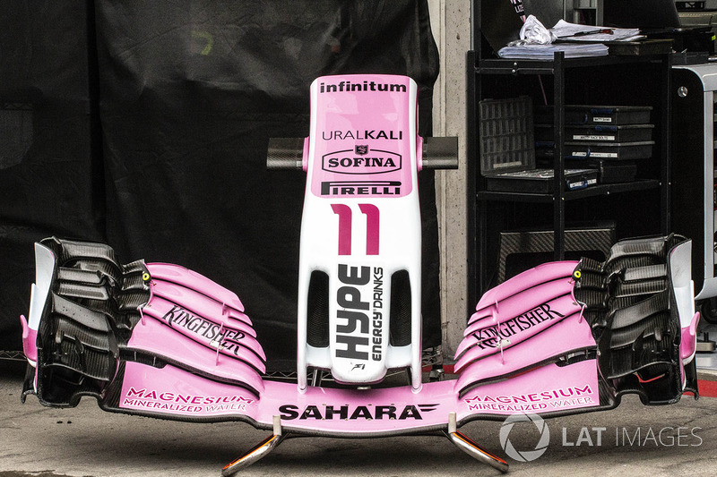 Force India VJM11 nariz y ala delantera