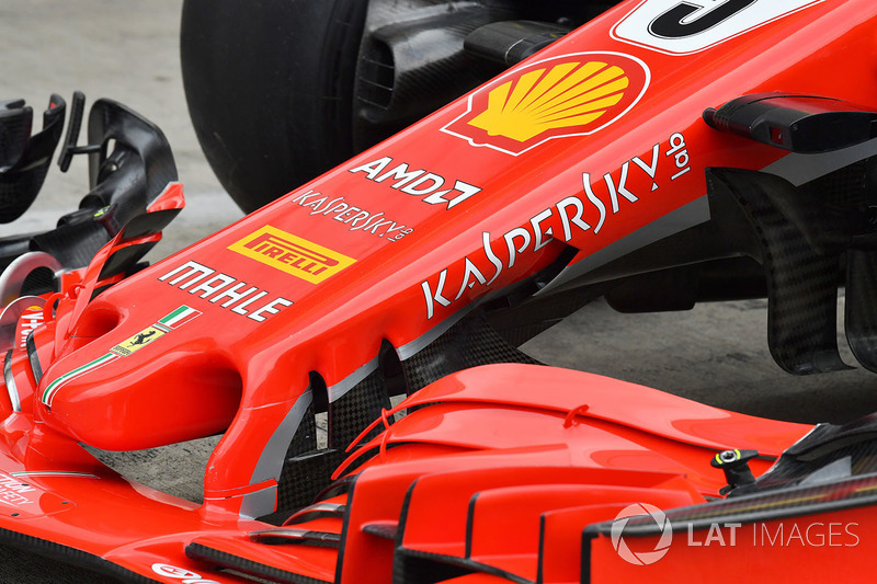 Ferrari SF71H nose and front wing