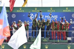 LMGTE Am podium: winners Christian Ried, Julien Andlauer, Matt Campbell, Proton Competition, second place Thomas Flohr, Francesco Castellacci, Giancarlo Fisichella, Spirit of Race, third place #85Ben Keating, Jeroen Bleekemolen, Luca Stolz, Keating Motorsports