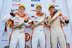 Podium: #2 GIGASPEED Team GetSpeed Performance Porsche 911 GT3 R: Steve Jans, Marek Böckmann, Fabian Schiller