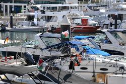 Les bateaux dans la Marina