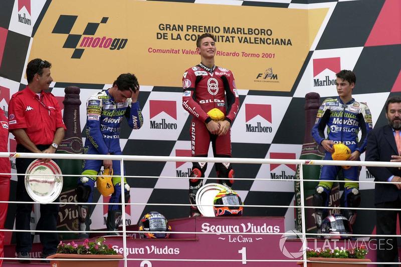 125cc Jepang 2001, podium perdana