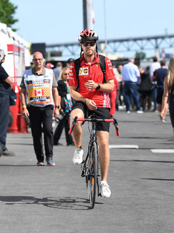 Sebastian Vettel, Ferrari on a bike