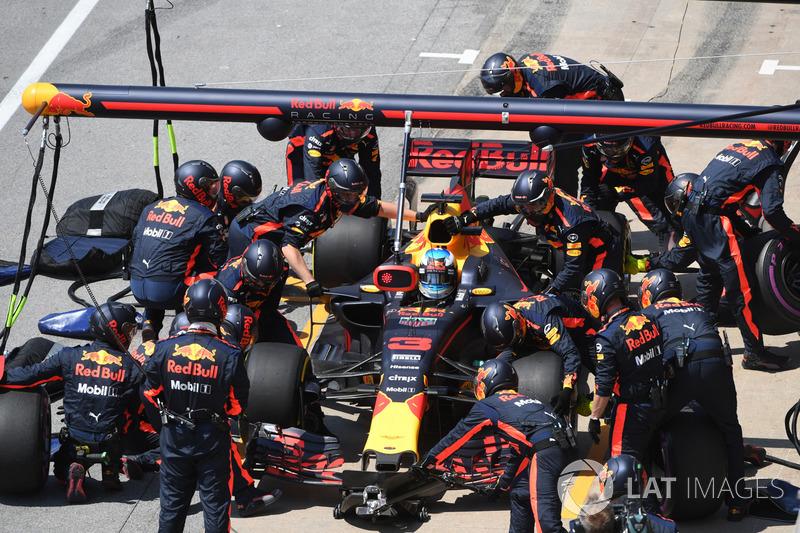 Boxenstopp: Daniel Ricciardo, Red Bull Racing RB13