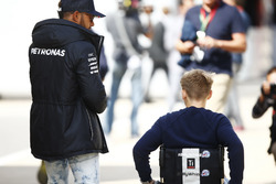 Billy Monger, Lewis Hamilton, Mercedes AMG F1