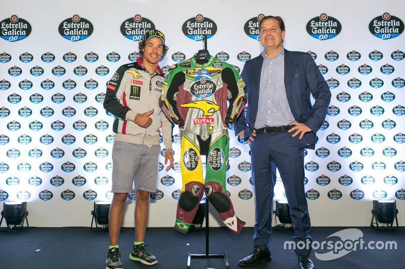 Franco Morbidelli dengan baju balap livery Brasil