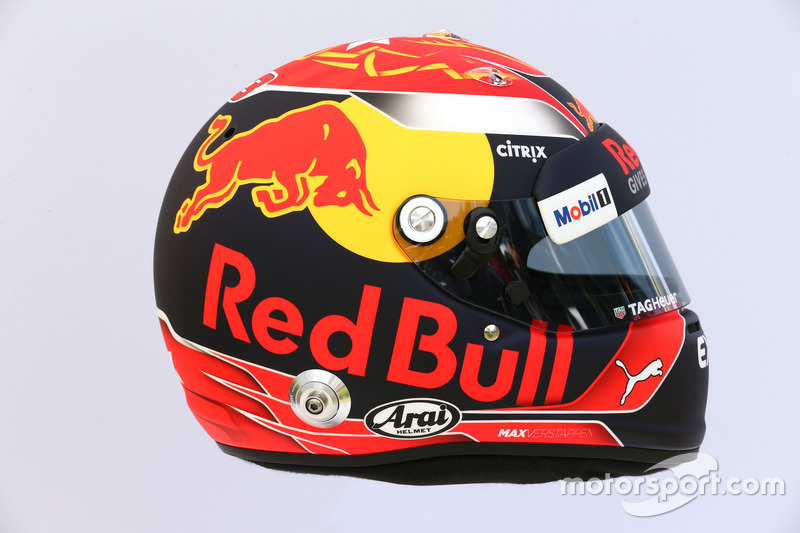 Casco de Max Verstappen, Red Bull Racing RB13