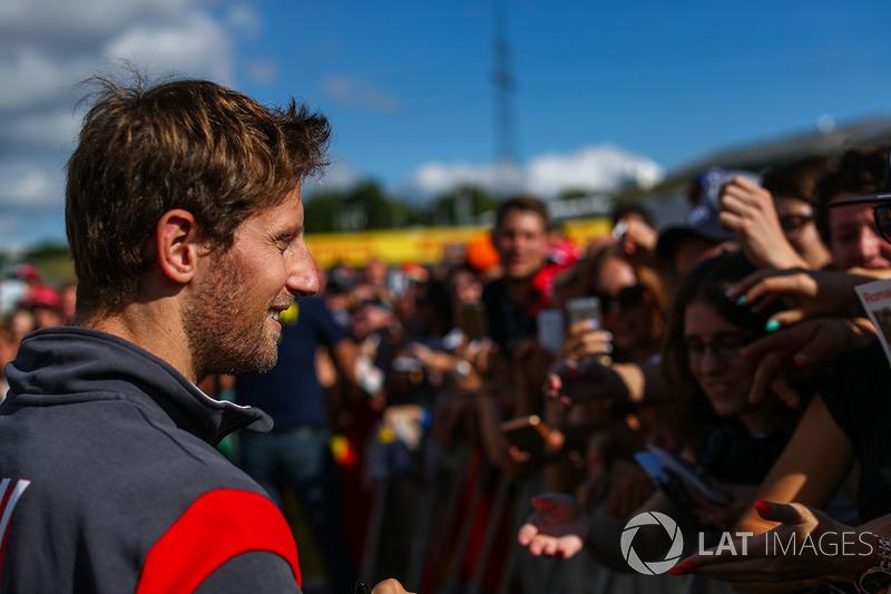 Romain Grosjean, Haas F1 con fans