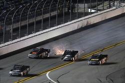 Crash: Korbin Forrister, Toyota; Christopher Bell, Kyle Busch Motorsports Toyota