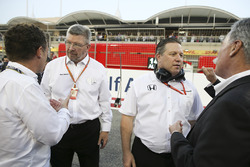 Ross Brawn, Director de Motorsports, FOM, Zak Brown, Director ejecutivo, McLaren Technology Group