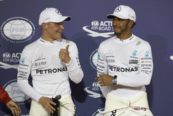 Polesitter: Valtteri Bottas, Mercedes AMG, second place Lewis Hamilton, Mercedes AMG