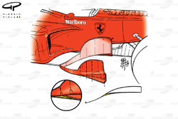Ferrari F399 bargeboards (differences for Qualifying)