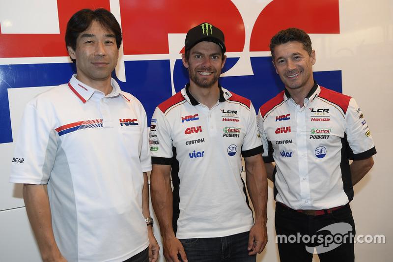 Tetsuhiro Kuwata HRC Director, Cal Crutchlow, LCR Honda, Lucio Cecchinello, LCR Honda Team Principal