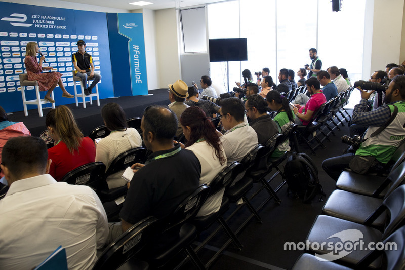 Pressekonferenz mit Esteban Gutiérrez, Techeetah