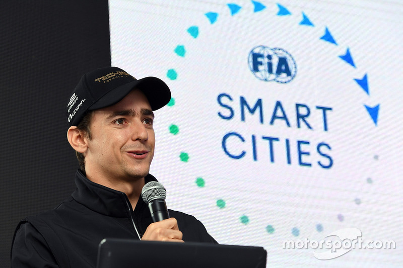 Esteban Gutiérrez, Techeetah, talks to the media