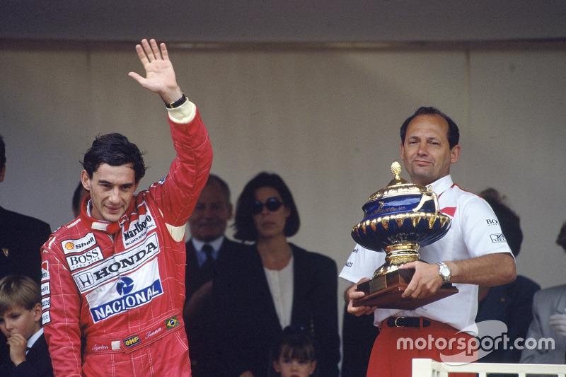 Ayrton Senna und Ron Dennis