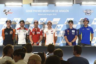 Pol Espargaro, Red Bull KTM Factory Racing, Cal Crutchlow, Team LCR Honda, Andrea Dovizioso, Ducati Team, Marc Marquez, Repsol Honda Team, Maverick Viñales, Yamaha Factory Racing, Alex Rins, Team Suzuki MotoGP