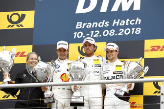 Podium: Race winner Daniel Juncadella, Mercedes-AMG Team HWA, second place Augusto Farfus, BMW Team RMG, third place Lucas Auer, Mercedes-AMG Team HWA
