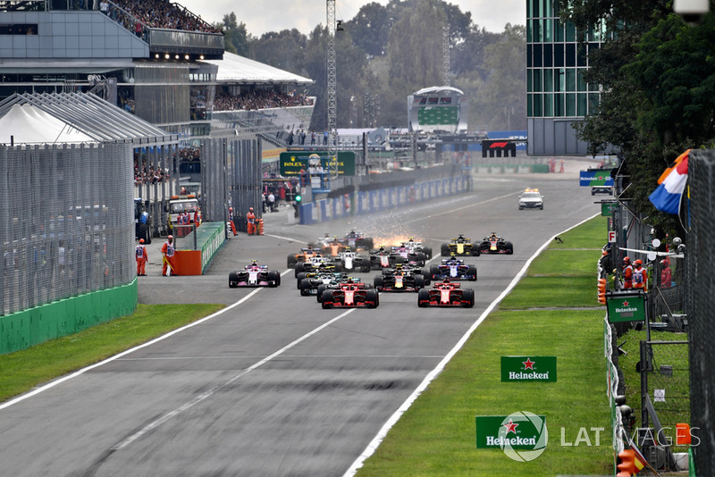 GP Italia - Brendon Hartley/Marcus Ericsson/Stoffel Vandoorne (balapan)