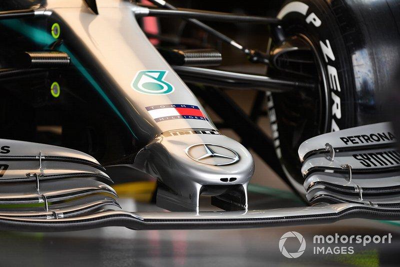 Il naso della Mercedes AMG F1 W10