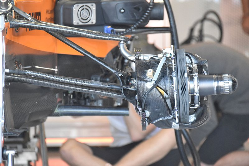 La suspension de la McLaren MCL34