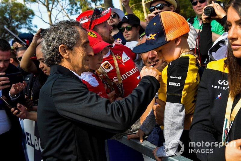 Alain Prost, Renault, firma autografi ai tifosi