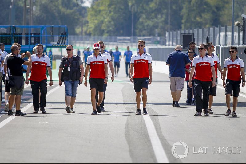 Marcus Ericsson, Sauber e i suoi meccanici