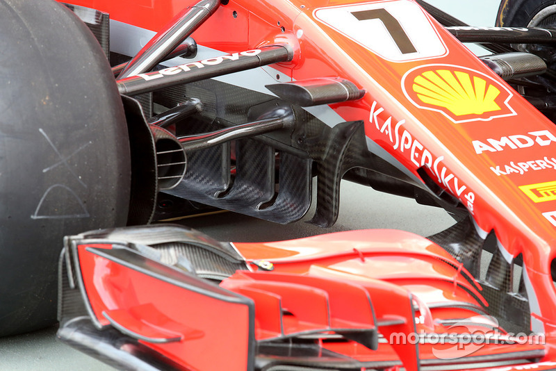 Turning vanes Ferrari SF71H