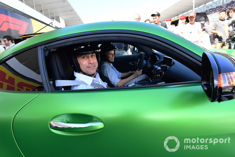 Toto Wolff, Mercedes AMG F1 Director of Motorsport and Susie Wolff ...
