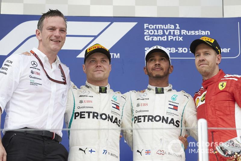 GP de Rusia: 1º Hamilton, 2º Bottas, 3º Vettel