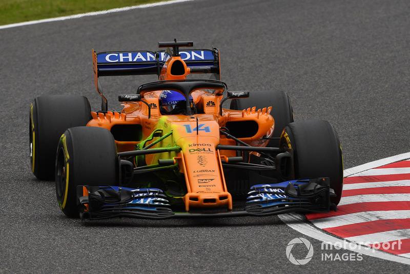 El McLaren MCL33 con parafina en la suspensión delantera