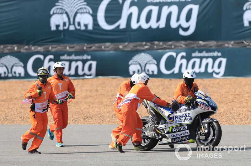 Xavier Simeon, Avintia Racing crashed bike