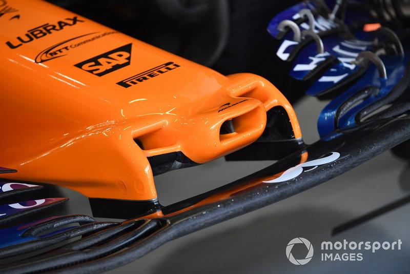 McLaren MCL33, dettaglio del naso