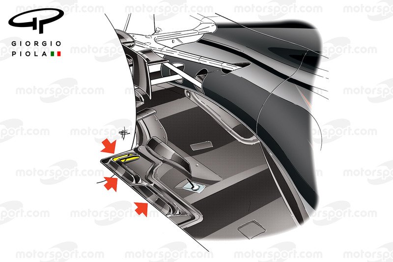 McLaren MP4-31 stepped bottom
