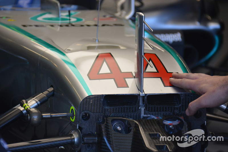 Mercedes AMG F1 W07, Chassis, Detail