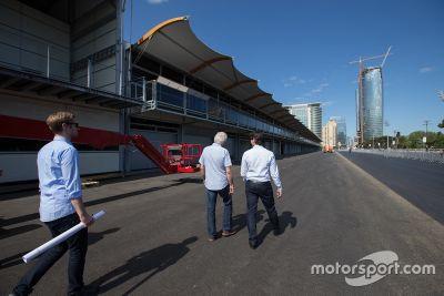La FIA inspecte le circuit urbain de Bakou