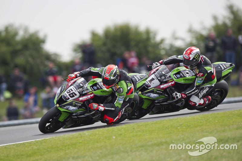 Tom Sykes, Kawasaki Racing Team, und Jonathan Rea, Kawasaki Racing Team