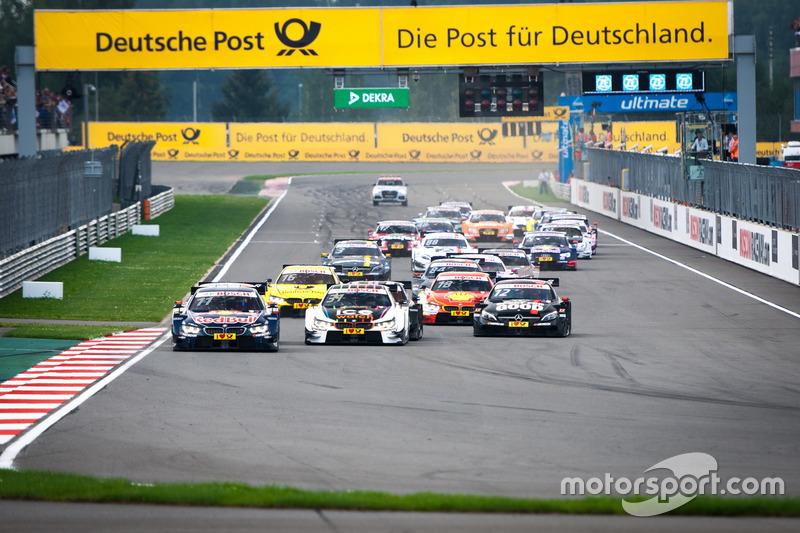 Partenza della gara: Marco Wittmann, BMW Team RMG, BMW M4 DTM al comando