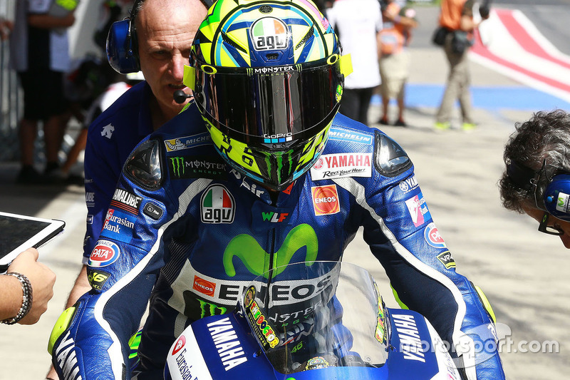 In der Boxengasse: Valentino Rossi, Yamaha Factory Racing