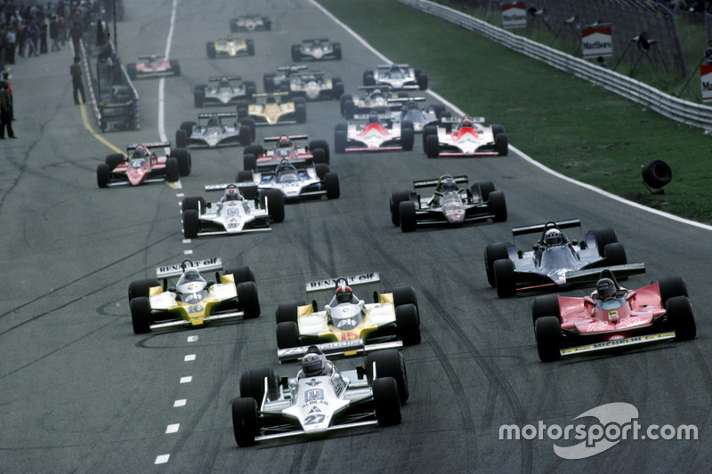 Start: Alan Jones, Williams leads